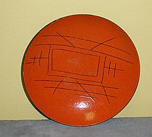 Italian enameled plate. D:8. 5
