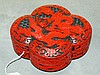 Chinese cinnabar covered dragon box. F:2. 5