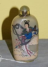 Chinese antique reverse glass painted snuff bottle.
