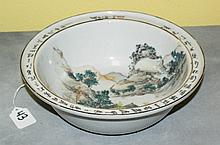 19th c chinese porcelain bowl with caligraphy and