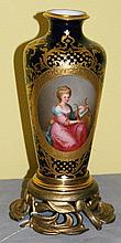 19th C bronze mounted Royal Viena porcelain gilt and
