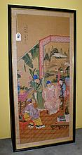 19th c Chinese painting on silk