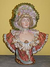 Rudolstadt German porcelain bust of a woman