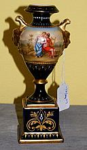 19th C Royal Vienna porcelain urn