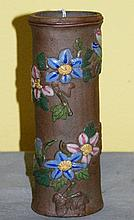 Chinese pottery vase with mark on back