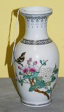 Chinese porcelain vase with caligraphy and signature