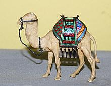 Chinese 19th c ivory and cloisonne camel
