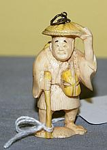 19th C ivory netsuke, signed