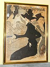Framed French Poster titled Divan Japonais.