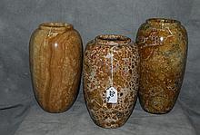 3 marble vases. H:12