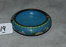 Chinese cloisonne ashtray. D:4