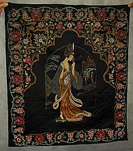 Chinese embroidered panel. H:40