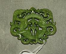 Chinese carved jade pendant. H:2.5