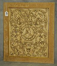 Carved wood wall panel. H:21
