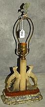Deco style alabaster figural lamp. H:21.5