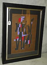 Carlos Merida ( Guatemalan, 1895-1984) mixed media