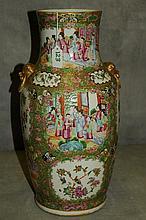 19th c Chinese Rose Medallion porcelain vase.