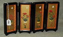 Chinese jade mounted table screen. H:9