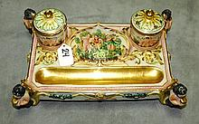 Capodimonte porcelain inkwell. H:5.5