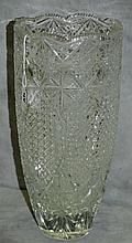 Large Russian cut crystal vase. H:14.5
