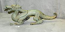 Large Chinese bronze figure of a draggon. H:9.5