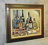 Mystery artist oil on board of still life. Site size