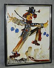 Morris Katz (1931-2010) oil on masonite of clown signed