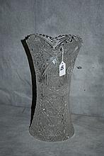 Antique American Brilliant cut glass vase. H:13