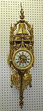Large 19th c dore bronze cartel clock. H:41