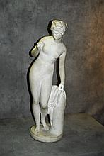 Marble/alabaster nude figure . H:36