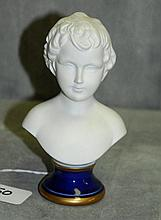 Parian porcelain bust. H:5.5