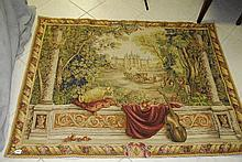 Landscape scene tapestry