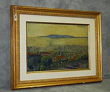 Frederic Burt (1876-1943) California artist signed and dated 1930 on back of canvas.