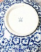 Chinese export blue and white bronze mounted porcelain