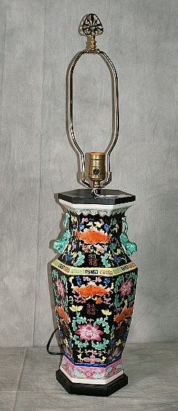 Chinese porcelain vase mounted as lamp