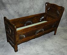 19th C country french cradle. H:33.25