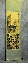 Chinese painted scroll on silk. H:65