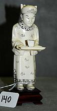 Chinese 19th C ivory figure . H:7.25