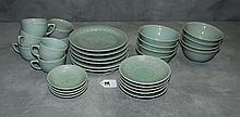 30 pieces of Chinese celedon porcelain with blue seal