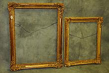 Two giltwood picture frames. Largest inside H:34.5