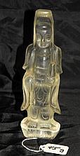Chinese quartz Quan yin figure.