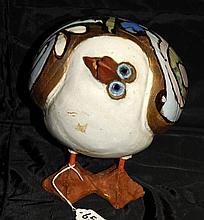 Ceramic bird signed