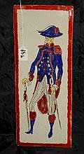 Italian Terrecotta Painted Plaque.