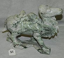 Chinese jade camel. H:8
