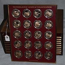Franklin Mint bronze coin collection of history of