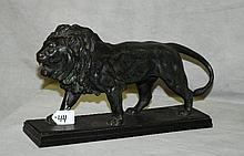 Antique Bronze statue of a lion signed Barye. H:9