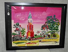 Peter Max Serigraph number 71/150 with a seal. Overall