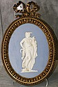 19th C bronze framed wedgewood plaque marked on back