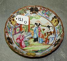 19th C Chinese rose medallion porcelain bowl.