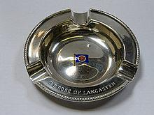 HALLMARKED SILVER AND ENAMELLED S.S. ROSE OF LANCA